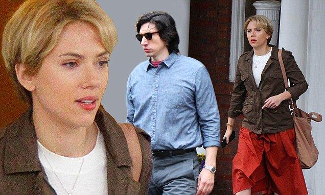 Scarlett Johansson and Adam Driver Filming Noah Baumbach Project in Brooklyn