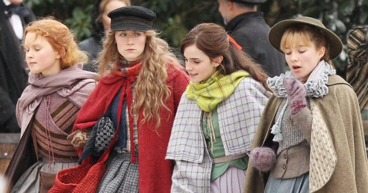 """*EXCLUSIVE* Emma Watson, Florence Pugh, Saoirse Ronan and Eliza Scanlen get into character for """"Little Women"""""""